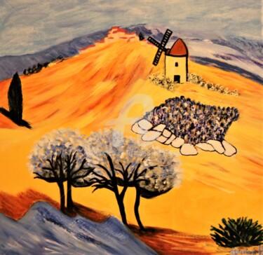 Peinture, acrylique, expressionnisme, œuvre d'art par Louise Bressange