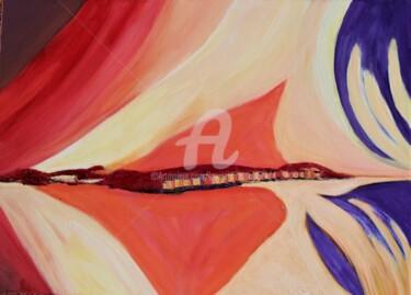 Peinture Couleur, gouache, abstrait, œuvre d'art par Louise Bressange