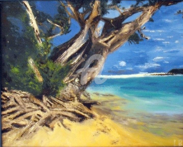 Louise BRESSANGE - arbre-et-branchages-sur-la-plage.jpg